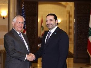 ABD Dışişleri Bakanı Rex Tillerson, Lübnan Başbakanı Saad El-Hariri ile Görüştü