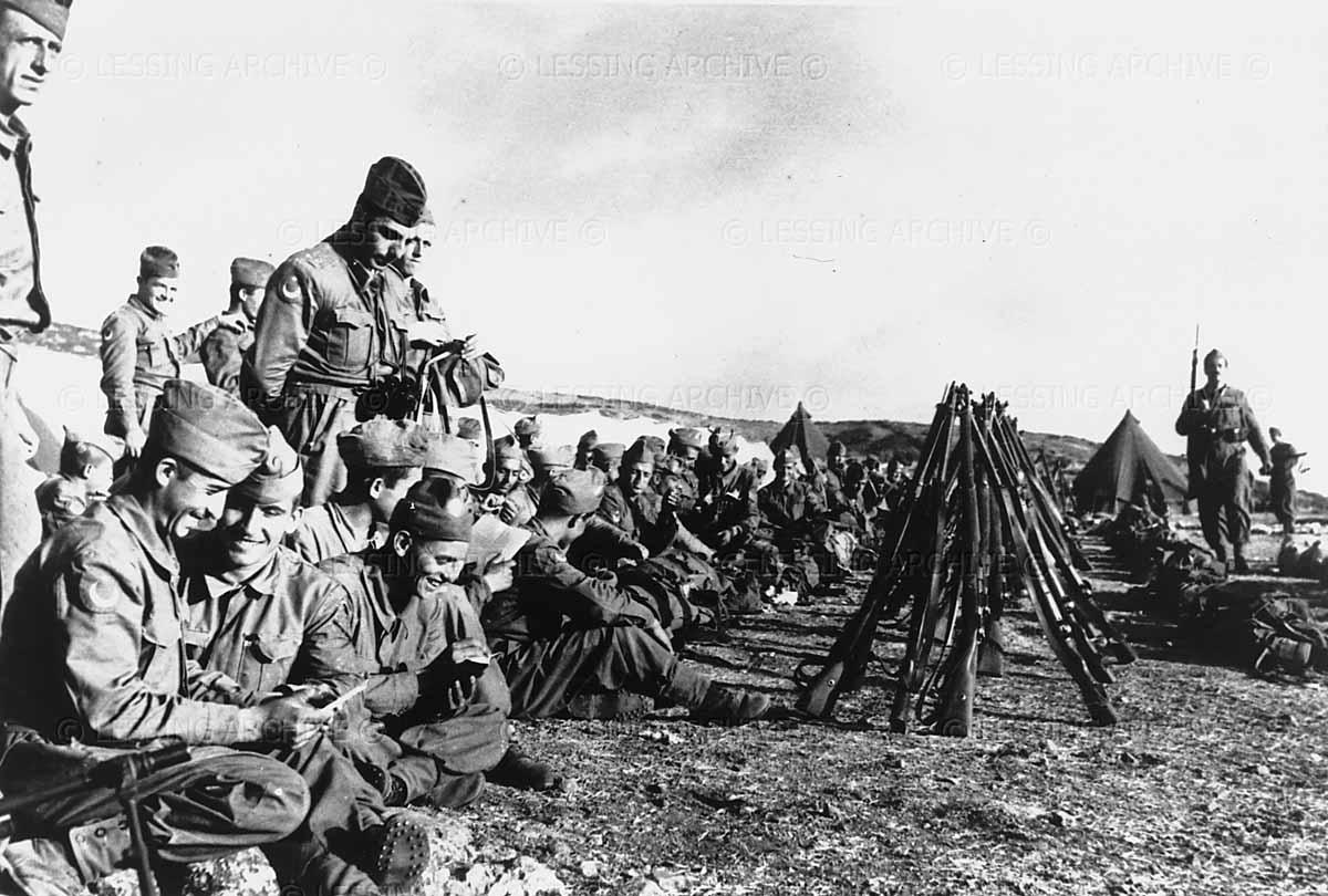 Turkish troops prior to their departure for the Korean War. Ankara,1952