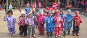 Norveçte çocuklar