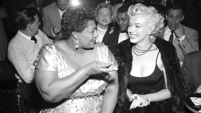 Lady Ella Fitzgerald ve Marilyn Monroe