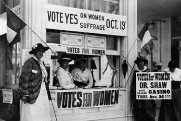 Amerikalı kadınların oy kullanma hakkı