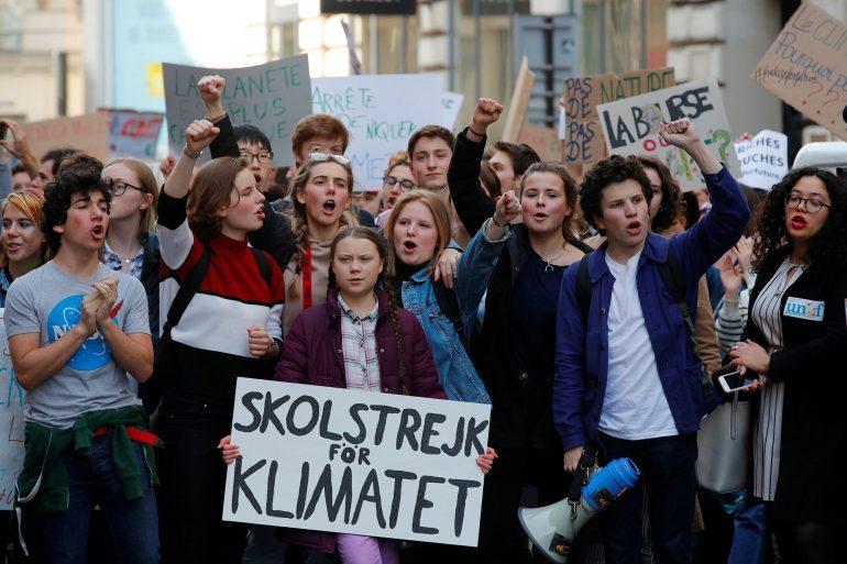 Greta Thunberg Skolstrejk För Klimatet